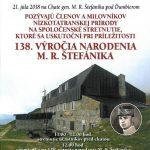 138. VÝROČIE M.R.ŠTEFÁNIKA