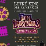 Letné kino pre najmenších