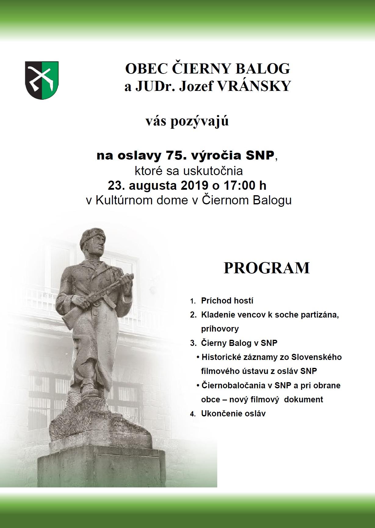 Oslavy 75. výročia SNP